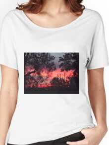 Sunset behind desolate trees 2 Women's Relaxed Fit T-Shirt