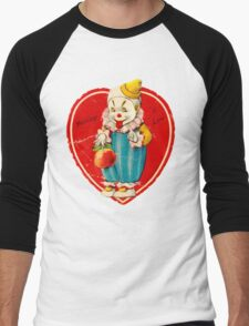Vintage Valentine evil clown Men's Baseball ¾ T-Shirt