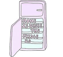 Home Is Where The Fridge Is Photographic Print