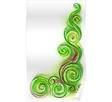 Lime Green Abstract Wave Poster