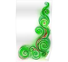 Green Abstract Wave Poster