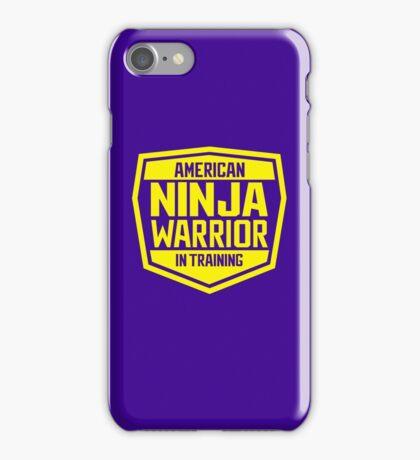 American Ninja Warrior - Yellow iPhone Case/Skin