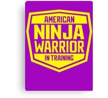 American Ninja Warrior - Yellow Canvas Print