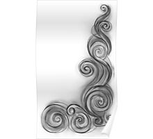 Colorless Abstract Wave Poster