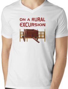On A Rural Excursion Mens V-Neck T-Shirt