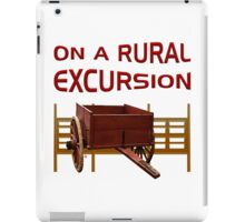 On A Rural Excursion iPad Case/Skin
