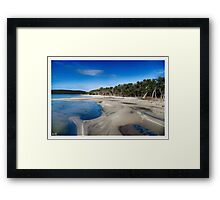 As peaceful as it is beautiful Framed Print