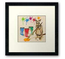 Adding a Splash of Colour Framed Print