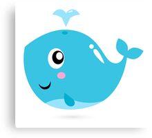 Happy underwater animal cartoon Illustration Canvas Print