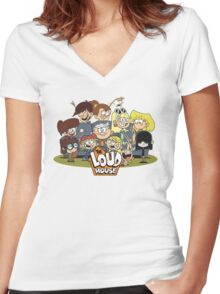 In the Loud House! Women's Fitted V-Neck T-Shirt