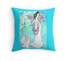Daily Doodle 37 - Train - Faerie Tail Wedding Throw Pillow