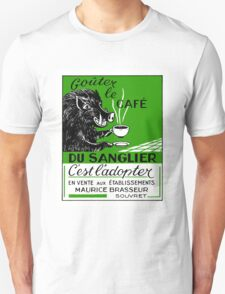 Antique Belgian Coffee Boar Advertising Poster T-Shirt