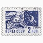 Soviet Union 1966 stamp - Space Exploration by pixel-city