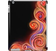 Red Neon Wave iPad Case/Skin