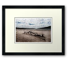 At the end of the inlet Framed Print