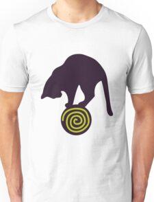Whimsical Black Cat Vector Illustration Unisex T-Shirt