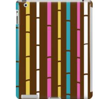 Fresh colorful bamboo pattern stripes iPad Case/Skin