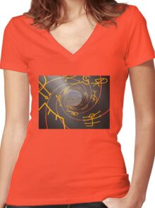 Charged Runes Women's Fitted V-Neck T-Shirt