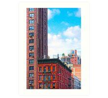 Generic New York - 7th Avenue Manhattan Street Scene Art Print