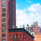 Generic New York - 7th Avenue Manhattan Street Scene by Mark Tisdale
