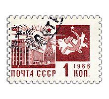 Soviet Union 1966 stamp - Communism Photographic Print