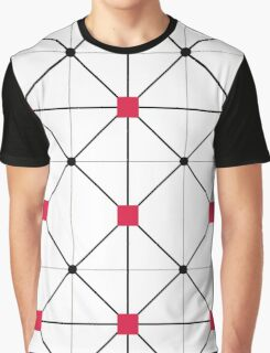 Squares and Lines Graphic T-Shirt