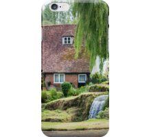 Cottage, Garden and stream iPhone Case/Skin