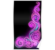 Pink Neon Wave Poster