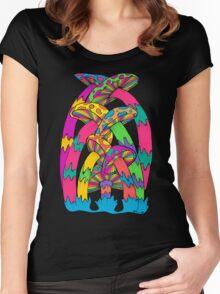 Pastel Mushroom Women's Fitted Scoop T-Shirt