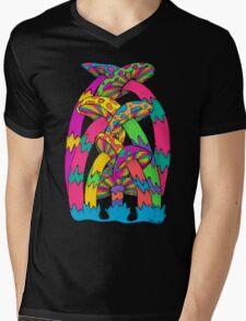 Pastel Mushroom Mens V-Neck T-Shirt