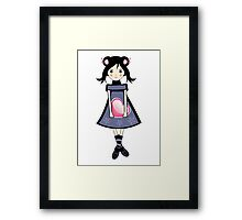 Sakura Japanese Girl Illustration Framed Print