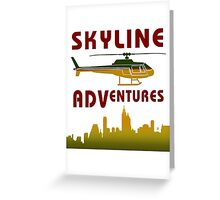 Skyline Helicopter Adventures Greeting Card