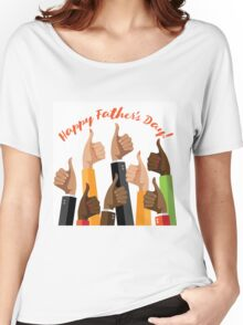 Happy Father's Day Thumbs Up Women's Relaxed Fit T-Shirt