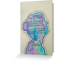Taylor Swift style/clean speech  Greeting Card