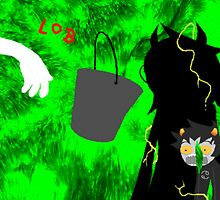 Karkat's Jade Portal Bucket Reaction by ZomBieLouver