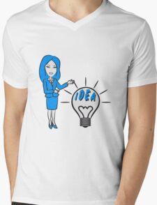 successful idea woman Mens V-Neck T-Shirt