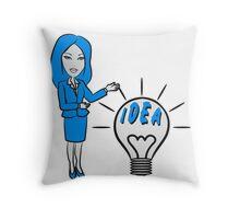 successful idea woman Throw Pillow