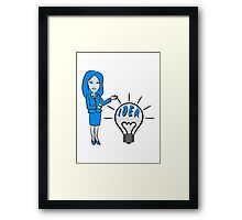 successful idea woman Framed Print