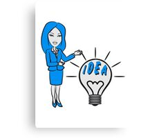 successful idea woman Canvas Print