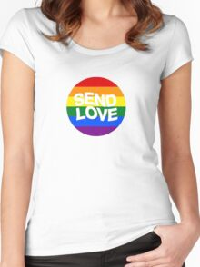send love // pride month  Women's Fitted Scoop T-Shirt