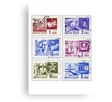Soviet Union 1966 stamps Canvas Print