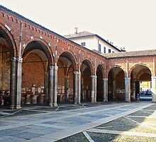 The Portico of St. Ambrose in Milan by ANT2NET