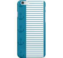 Trendy Nautical Blue and White Stripe Design iPhone Case/Skin