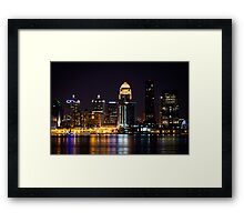 Louisville By Night Framed Print