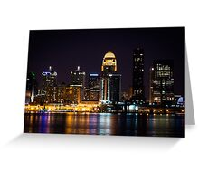Louisville By Night Greeting Card