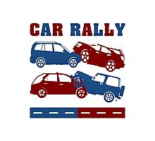 Car Rally Gone Awry Photographic Print