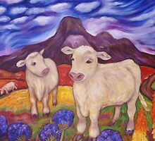 Charolais Calves by Dianne Connolly
