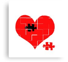 Heart Jigsaw the Missing Piece Canvas Print