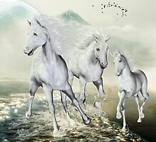 White Horses On The Beach by Gatterwe