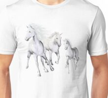 White Horses On The Beach Unisex T-Shirt